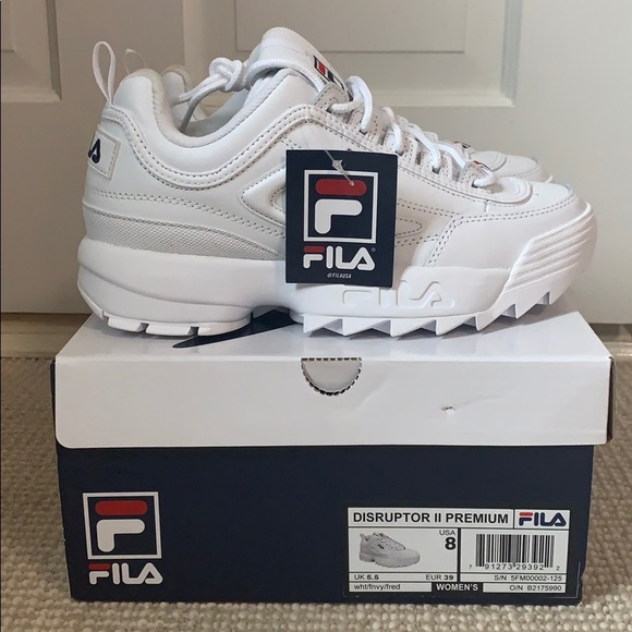 FILA DISRUPTOR II PREMIUM BRAND NEW WHITE Boutique